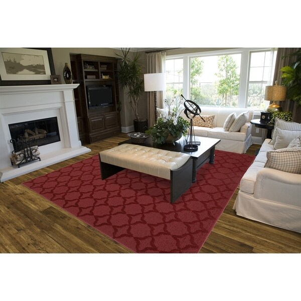 Sparta Chili Red Living Room Area Rug