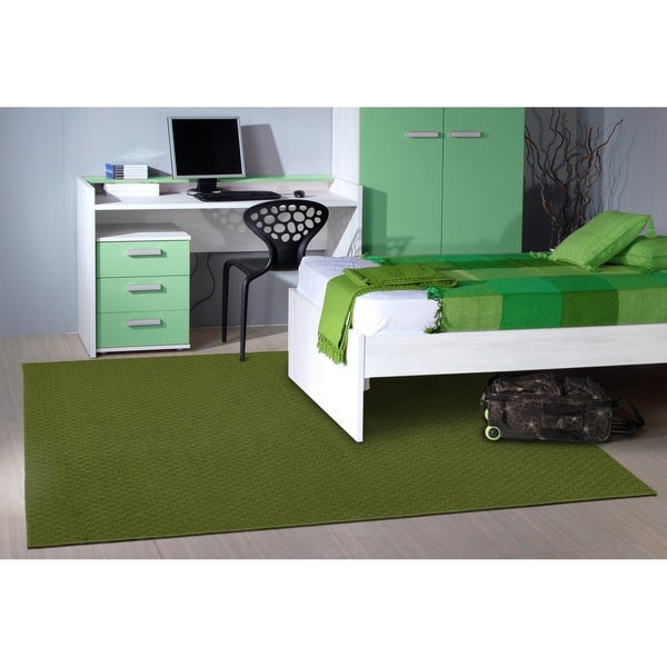 Town Square Grasshopper GreenLiving Room Area Rug