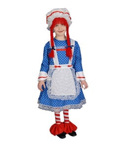 Deluxe Rag Doll Children's Costume Set