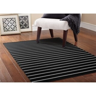 Avery Black Living Room Area Rug - 5' x 7'5""