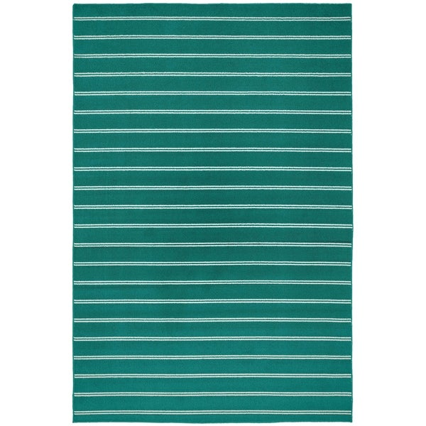 Avery Teal Living Room Area Rug - 5' x 7'5""