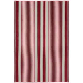 Cape Cod Chili Red Living Room Area Rug - 6' x 8'