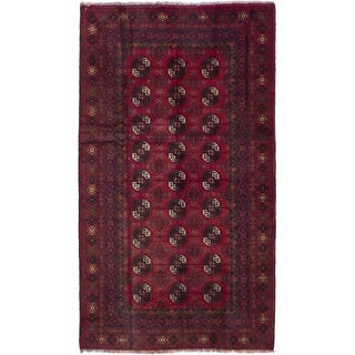 ECARPETGALLERY  Hand-knotted Teimani Red Wool Rug - 3'6 x 6'5
