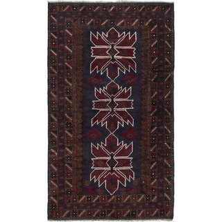 ECARPETGALLERY  Hand-knotted Finest Rizbaft Brown Wool Rug - 3'7 x 6'4