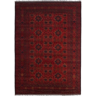 ECARPETGALLERY  Hand-knotted Finest Khal Mohammadi Red Wool Rug - 6'9 x 9'8