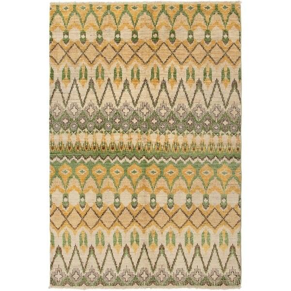 ECARPETGALLERY Hand-knotted Shalimar Cream Wool Rug - 5'10 x 8'10
