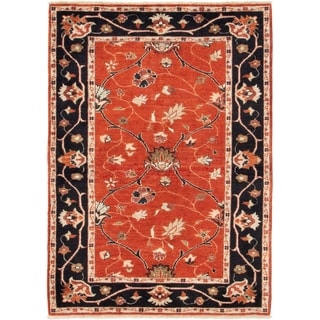 ECARPETGALLERY  Hand-knotted Serapi Heritage Dark Copper Wool Rug - 4'2 x 5'10