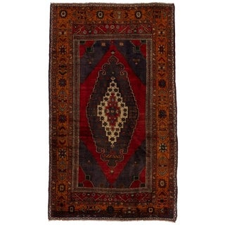 ECARPETGALLERY  Hand-knotted Anatolian Vintage Red Wool Rug - 5'4 x 9'5