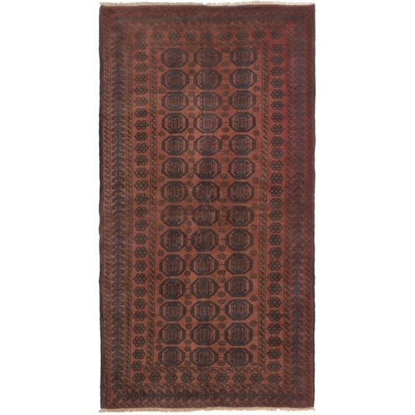ECARPETGALLERY Hand-knotted Rizbaft Copper Wool Rug - 3'6 x 6'9