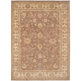 ECARPETGALLERY  Hand-knotted Chobi Finest Brown Wool Rug - 8'10 x 12'0