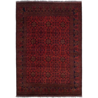 ECARPETGALLERY  Hand-knotted Finest Khal Mohammadi Red Wool Rug - 6'7 x 9'8