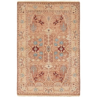 ECARPETGALLERY  Hand-knotted Chobi Finest Tan Wool Rug - 4'0 x 6'0