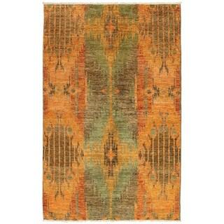 ECARPETGALLERY  Hand-knotted Shalimar Orange Wool Rug - 4'6 x 7'1