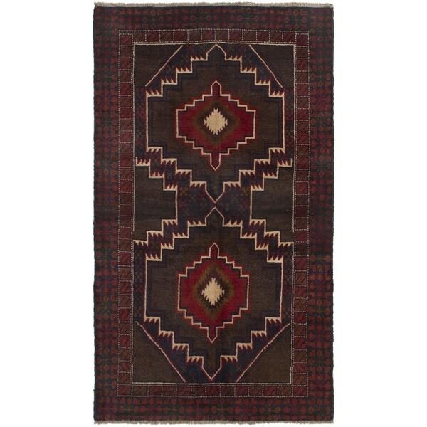ECARPETGALLERY Hand-knotted Kazak Brown, Dark Copper Wool Rug - 3'7 x 6'4