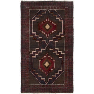 ECARPETGALLERY  Hand-knotted Kazak Brown, Dark Copper Wool Rug - 3'7 x 6'4