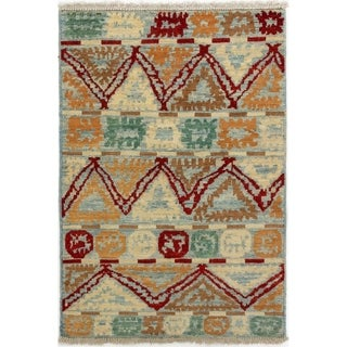 ECARPETGALLERY  Hand-knotted Shalimar Cream Wool Rug - 4'1 x 5'9