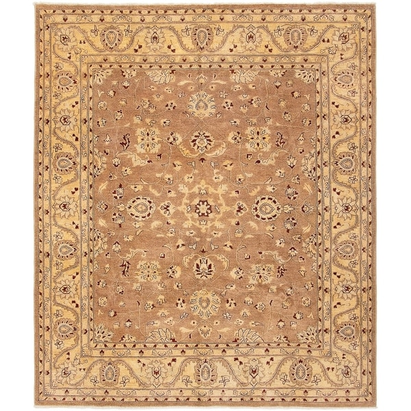 ECARPETGALLERY Hand-knotted Chobi Finest Brown Wool Rug - 8'4 x 9'10