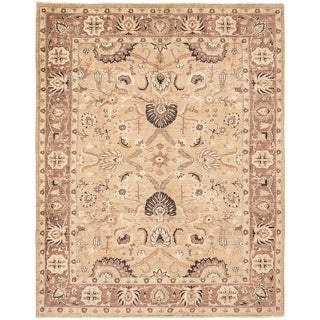 ECARPETGALLERY  Hand-knotted Chobi Finest Tan Wool Rug - 8'0 x 10'0