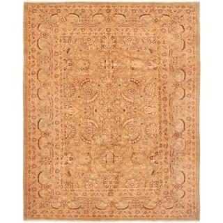 ECARPETGALLERY  Hand-knotted Chobi Finest Tan Wool Rug - 8'1 x 9'10