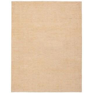ECARPETGALLERY  Hand-knotted Finest Ziegler Chobi Beige Wool Rug - 8'0 x 10'1