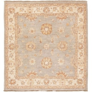 ECARPETGALLERY  Hand-knotted Chobi Finest Grey Wool Rug - 4'0 x 4'2