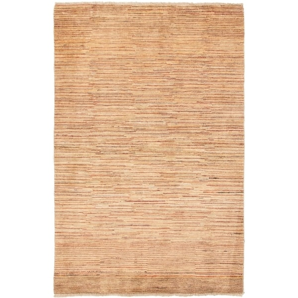 ECARPETGALLERY Hand-knotted Finest Ziegler Chobi Ivory Wool Rug - 4'1 x 6'4