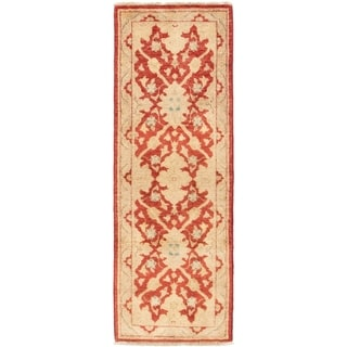 ECARPETGALLERY  Hand-knotted Chobi Finest Red Wool Rug - 2'1 x 6'2