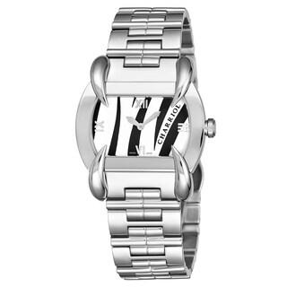 Charriol Women's KUCHTL.110.KTL003 'Kucha' Black/White Zebra Dial Stainless Steel Quartz Watch