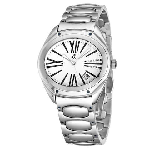 Charriol Women's FL.140.FL05 'The Force' Silver Dial Stainless Steel Quartz Watch