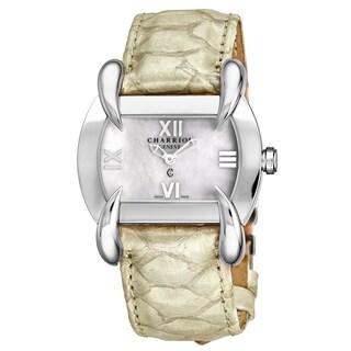 Charriol Women's KUCHTL.490.KTL004 'Kucha' Mother of Pearl Dial Off White Leather Strap Quartz Watch