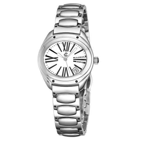Charriol Women's FS.130.FS05 'The Force' Silver Dial Stainless Steel Quartz Watch
