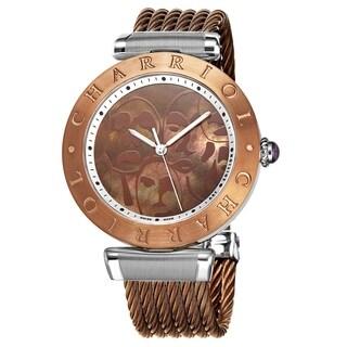 Charriol Women's ALSB3.53.109 Alexandre C Bronze MOP Human Flow Dial Bronze Stainless Steel Bracelet Art Edition Quartz Watch