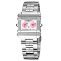 Charriol Women's CCHDTD.110.HDT02 Actor MOP Dial Stainless Steel Diamond Dual Time Over There & Here Quartz Watch