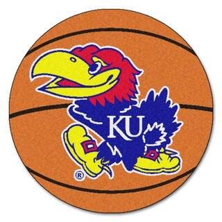 """FANMATS University of Kansas Basketball Mat Ball Mat 27"""" diameter - 2'3"""" Round"""
