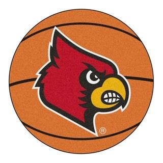 """FANMATS University of Louisville Basketball Mat Ball Mat 27"""" diameter - 2'3"""" Round"""