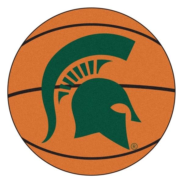 """FANMATS Michigan State University Basketball Mat 27"""" diameter - 2'3"""" Round"""