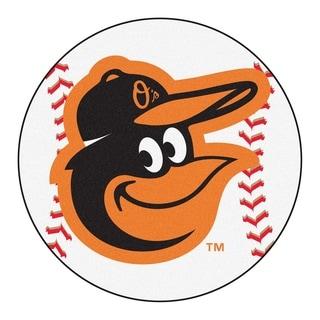 """FANMATS MLB - Baltimore Orioles Baseball Mat Ball Mat 27"""" diameter - 2'3"""" Round"""