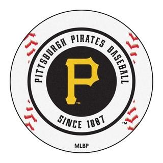 "FANMATS MLB - Pittsburgh Pirates Baseball Mat Ball Mat 27"" diameter - 2'3"" Round"