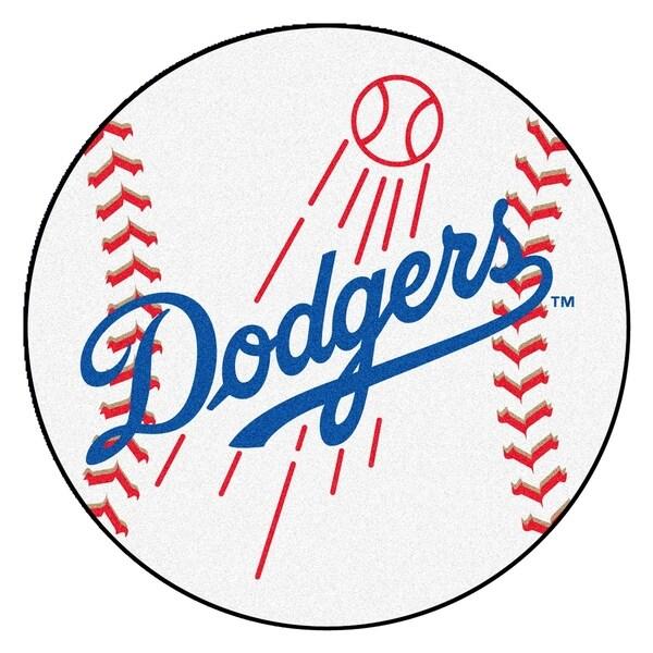 """FANMATS MLB - Los Angeles Dodgers Baseball Mat Ball Mat 27"""" diameter - 2'3"""" Round"""