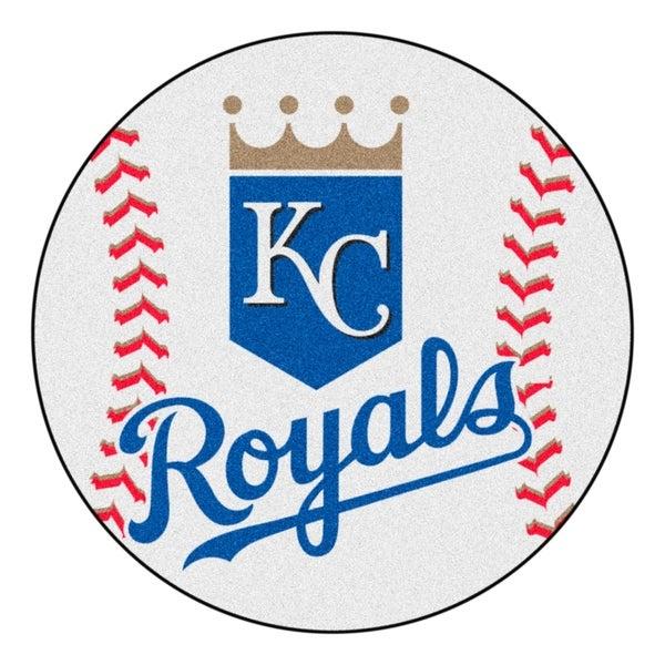 """FANMATS MLB - Kansas City Royals Baseball Mat Ball Mat 27"""" diameter - 2'3"""" Round"""