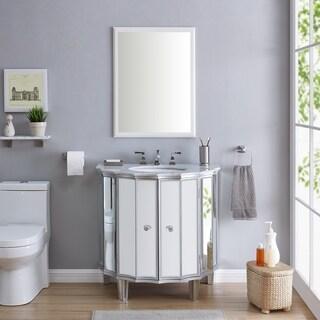 Harper Blvd Hannon Mirrored Vanity Sink w/ Marble Top