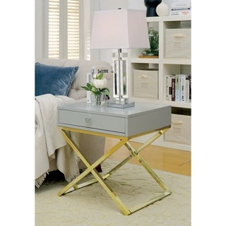 Williams Import  Rhona Contemporary Side Table in Grey Finish
