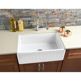 Hahn FireClay Large Reversible Single Bowl Farmhouse Sink