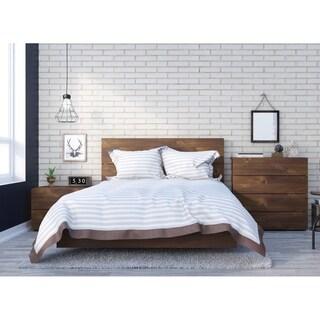 Nexera Karibou 4 Piece Bedroom Set, Truffle