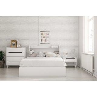 Nexera Aura 4 Piece Bedroom Set, White