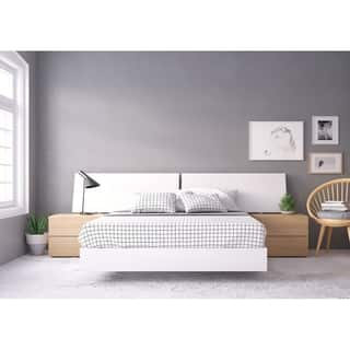 Buy Queen Size White Wood Bedroom Sets Online At