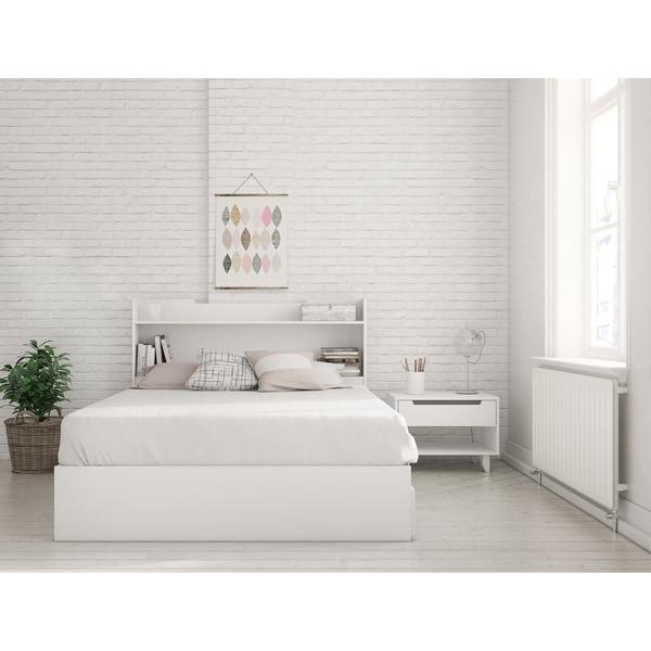 Nexera Aura 3 Piece Bedroom Set, White
