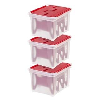 Christmas Light Storage Box with 4-Light Wraps (3-Pack)