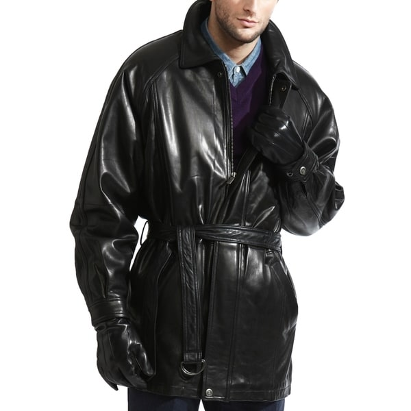The Godfather Lambskin Leather Coat. Opens flyout.