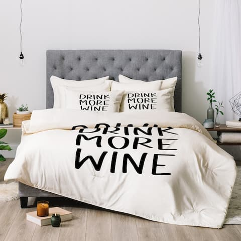 Deny Designs Wine 3-Piece Comforter Set